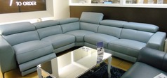 St Tropez electric recliner corner  powder blue £2999 (SUPERSTORE) - Click for more details