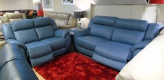 Caterina electric recliner 3 seater and 2 seater blue £2599 (SUPERSTORE) - Click for more details