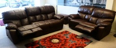 Pembroke manual recliner 3 seater and 2 seater mid brown £1699 (SWANSEA) - Click for more details