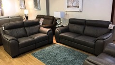 Sapri 3 seater and 2 seater dark grey (SWANSEA) - Click for more details
