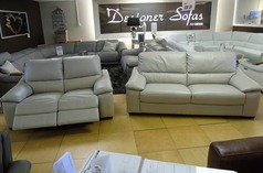 Provence  3 seater and double electric recliner 2 seater stone £1699 (SWANSEA) - Click for more details