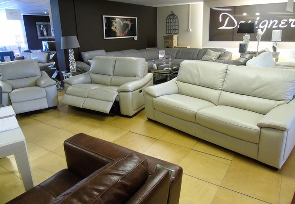 Provence  3 seater, double electric recliner 2 seater and electric reciner chair stone £2099 (SWANSEA)