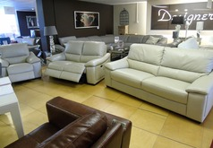 Provence  3 seater, double electric recliner 2 seater and electric reciner chair stone £2099 (SWANSEA) - Click for more details