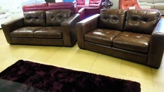 Faro 3 seater and 2 seater vintage tan £1699 (SWANSEA) - Click for more details