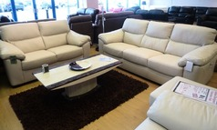 Pescaro 3 seater and 2 seater cream £1499 (NEWPORT) - Click for more details