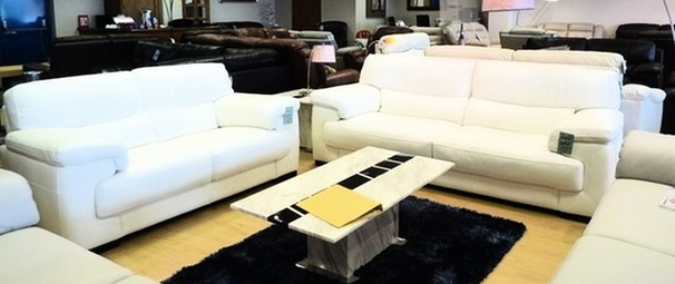 Rosa 3 seater and 2 seater Winter white £1999 (NEWPORT)