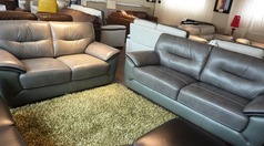 Santorini 3 seater and 2 seater grey £999 (SUPERSTORE) - Click for more details
