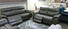 Santos electric recliner 3 seater and 2 seater dark grey £1999 SUPERSTORE - Click for more details