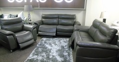 Santos electric recliner 3 seater, 2 seater and chair dark grey £2499 (SUPERSTORE) - Click for more details