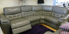 Brighton  electric recliner Euro corner grey leather £1799 (NEWPORT) - Click for more details