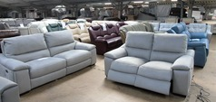 Provence electric recliner 3 seater and 2 seater dove grey fabric £1699 (SUPERSTORE) - Click for more details