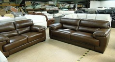 Rosa 3 seater and 2 seater Kansas Brown £2199 (SUPERSTORE) - Click for more details
