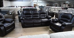 Clifton electric recliner 3 seater and 2 chairs dark brown  £799 (SUPERSTORE) - Click for more details