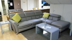 Cora corner suite-left arm grey £999 (SUPERSTORE) - Click for more details