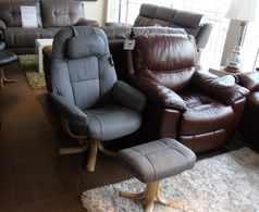 Sandi recliner swivel chair and stool grey  £299 (SUPERSTORE) - Click for more details