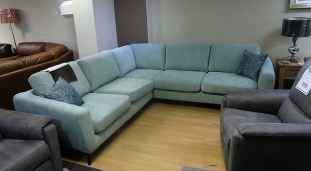 Cirrus corner suite aqua blue £799 (SUPERSTORE)