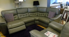 Brighton  electric recliner Euro corner grey leather £1799 (SUPERSTORE) - Click for more details