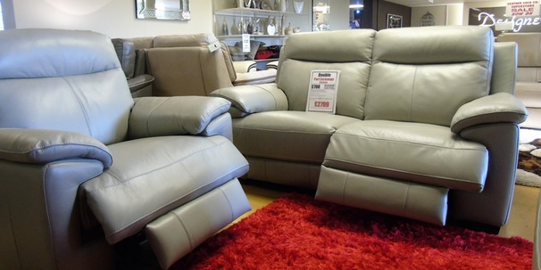 Paris electric recliner 2 seater and electric recliner chair grey £1799 (SUPERSTORE)