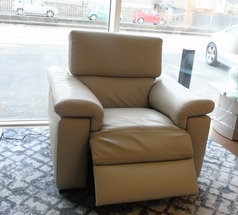 LAZIO electric recliner chair- stone hide £699 (SUPERSTORE) - Click for more details
