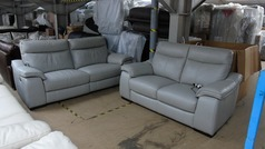 Marseille recliner 3 seater and 2 seater grey £2299 (SUPERSTORE) - Click for more details