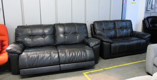 Electric recliner 3 seater and 2 seater  dark grey £675.00 (SUPERSTORE)