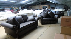 Boston 3 seater and 2 seater earth grey £499 (SUPERSTORE) - Click for more details