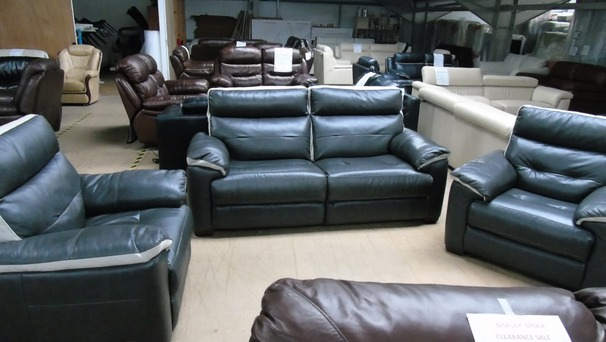 Le Mans 3 seater and 2 chairs dark grey £899 (SUPERSTORE)