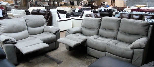 Lille recliner 3 seater and 2 seater grey £749 (SUPERSTORE)