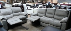 Lille recliner 3 seater and 2 seater grey £749 (SUPERSTORE) - Click for more details