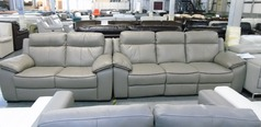 Nimes electric recliner 3 seater and (static) 2 seater stone £899 (SUPERSTORE) - Click for more details