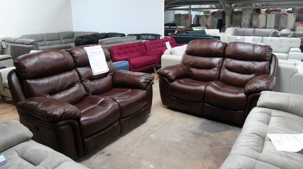 Kelso double electric recliner 2 seater and 2 seater brown £999 (SUPERSTORE)