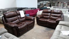 Kelso double electric recliner 2 seater and 2 seater brown £999 (SUPERSTORE) - Click for more details