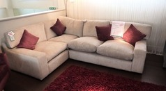 Wade corner suite £799 beige fabric £799 (SUPERSTORE) - Click for more details