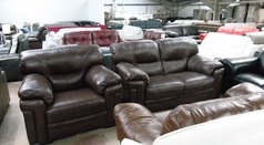 Linate 2 seater and 1 chair brown £499 (SUPERSTORE) - Click for more details