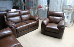 Casina electric recliner 2 seater and 1 chair tan £999 (SUPERSTORE) - Click for more details