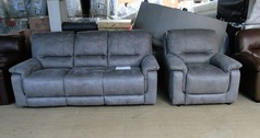 Melanie recliner 3 seater and standard chair dark grey £999 (SUPERSTORE) - Click for more details