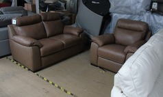 Latina 2 seater and electric recliner chair sand £1199 (SUPERSTORE) - Click for more details
