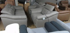 Lipari electric recliner  3 seater and 2 chair grey £1999 (SUPERSTORE) - Click for more details