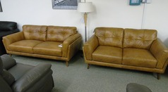 CADIZ 3 seater and 2 seater vintage light tan £1599 (SWANSEA) - Click for more details