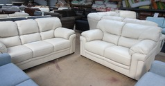 Linate 3 seater and 2 seater cream £1499 (SUPERSTORE) - Click for more details