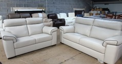 Sacramento 3 seater and 2 seater cream £2199 (SUPERSTORE) - Click for more details