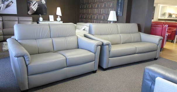 OSTIA 3 seater and 2 seater stone hide £2399 (SUPERSTORE)
