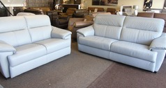 Genoa 3 seater and 2 seater  stone grey £2599 (SUPERSTORE) - Click for more details