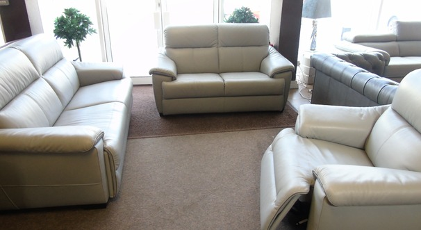 Genoa 3 seater, 2 seater and triple electric recliner chair £3799 (SUPERSTORE)