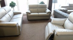 Genoa 3 seater, 2 seater and triple electric recliner chair £3799 (SUPERSTORE) - Click for more details