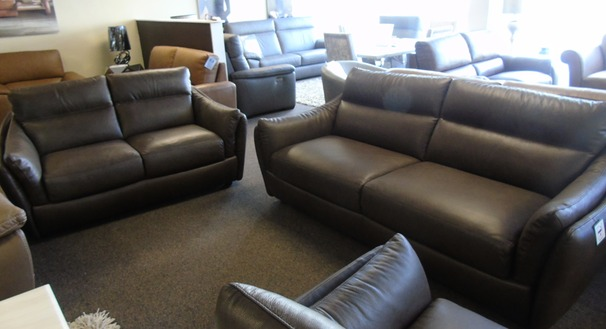 Anzio 3 seater and 2 seater brown £2599 (SUPERSTORE)