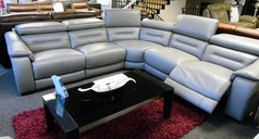Brive double electric recliner corner suite granite £2999 - Click for more details