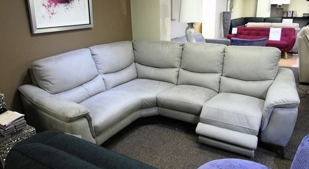 Dijon right arm  electric recliner corner suite grey fabric £999 (SUPERSTORE)