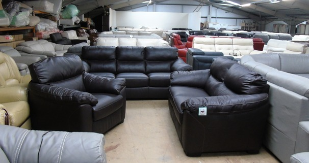 Pescaro 3 seater, 2 seater + 1 chair dark brown £1699 (SUPERSTORE)