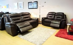 Anita electric recliner 3 seater and 2 seater rust £999 NEWPORT - Click for more details